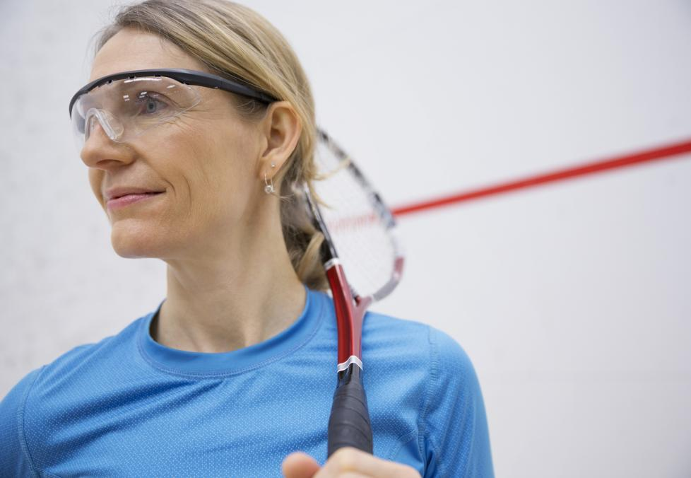 woman wearing the right sports eyewear