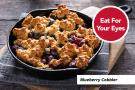 Mixed berry cobbler with whole wheat biscuit topping.